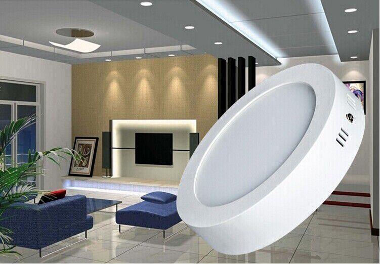 Luminária Plafon LED 18w Sobrepor Branco Frio Redonda - Luxtek