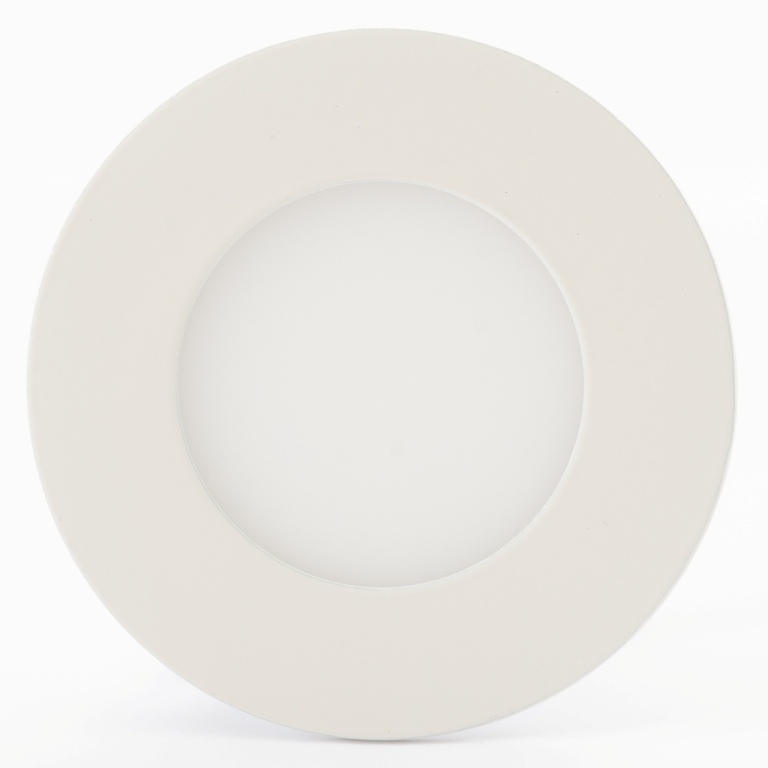 Luminária Plafon LED 3w Embutir Branco Frio Redonda / Quadrada - LUXTEK