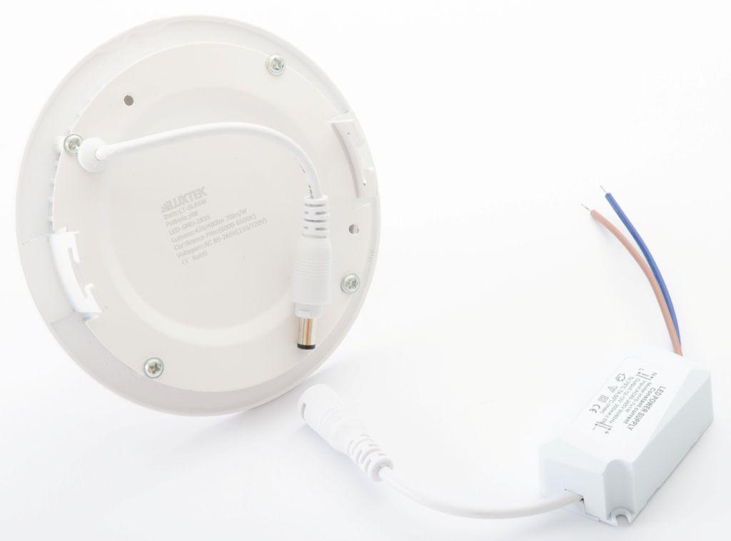 Luminária Plafon LED 6w Embutir Branco Frio Redonda / Quadrada - Luxtek