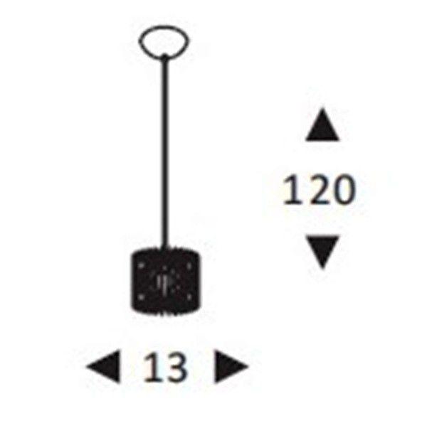 Luminária Pendente Aramado Pequeno Preto  Ref: Lt-301 - Luxtek