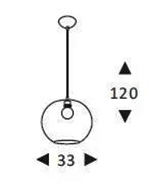 Luminária Pendente Aramado Renda Redonda Branca Ref: Lt-170A-Br - Luxtek