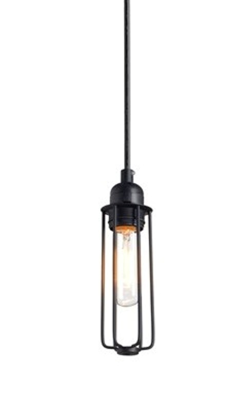 Luminária Pendente Aramado Tubi Preto Ref: Lt-167