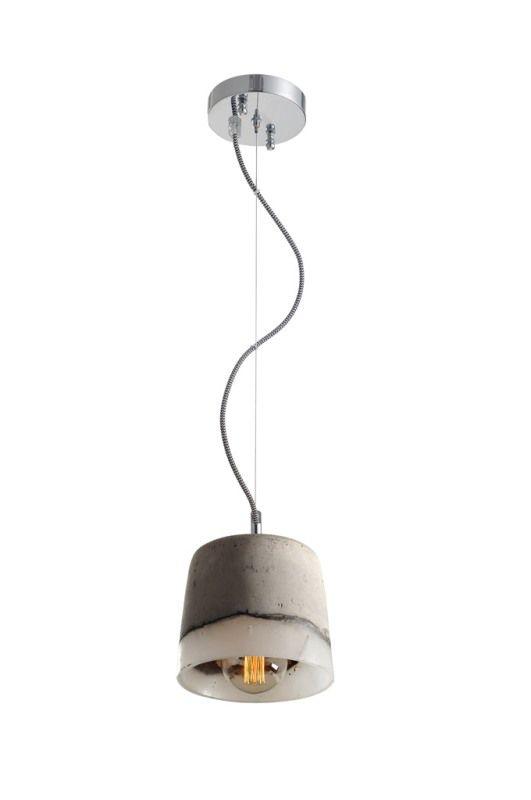 Luminária Pendente Cimento queimado e Resina Ref: Lt-156CC-A - Luxtek