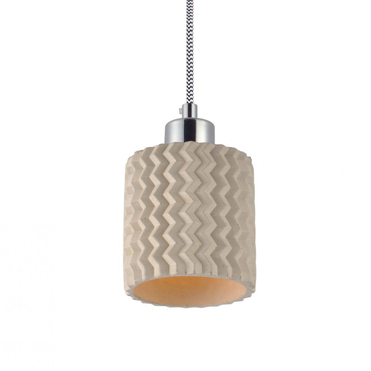 Luminária Pendente Concreto Cimento Design Texturizado Ref: Lt-360CC-A