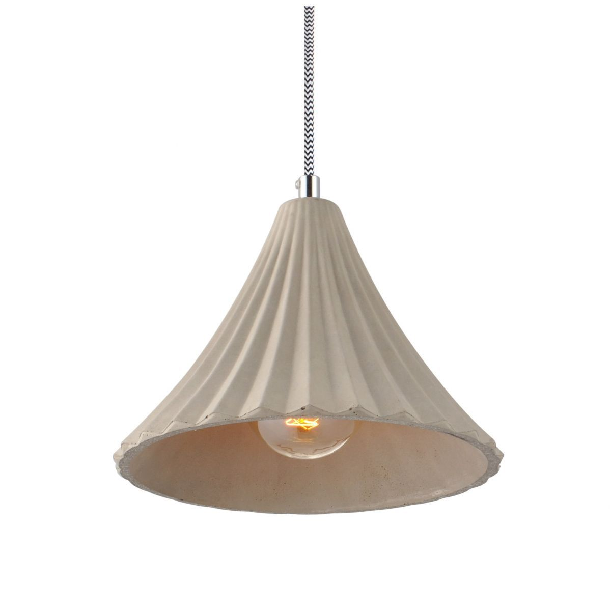 Luminária Pendente Concreto Cimento Design Texturizado Ref: Lt-360CC-B - Luxtek