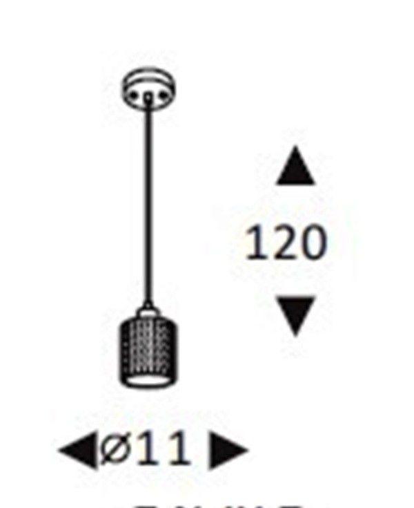 Luminária Pendente Concreto Cimento Design Texturizado Ref: Lt-360CC-A - Luxtek
