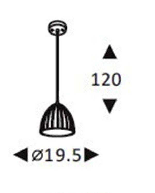 Luminária Pendente Concreto Cimento Design Texturizado Ref: Lt-360CC-C - Luxtek