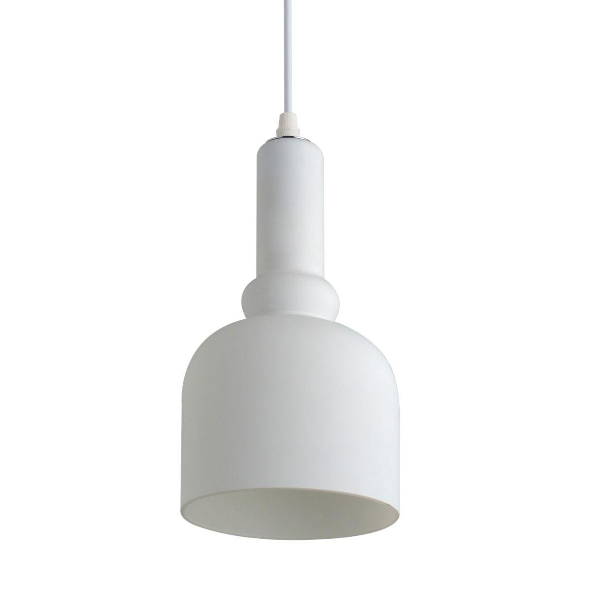Luminária Pendente Vidro Branco Fosco  Ref: Lt-222-A
