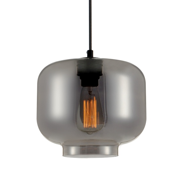 Luminária Pendente Vidro Fumê  Soprano  Ref: Lt-292V-A