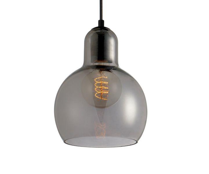 Luminária Pendente Vidro Fumê Soprano  Ref: Lt-292V-C - Luxtek