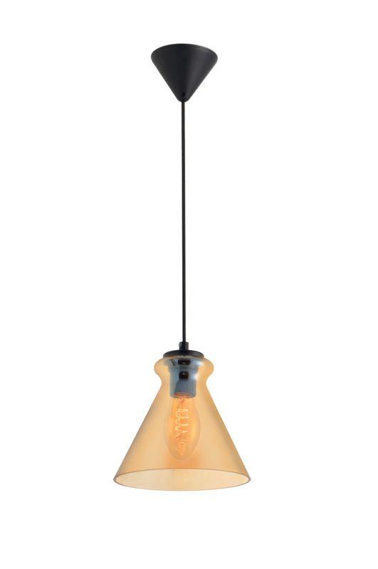 Luminária Pendente Vidro Âmbar Soprano Ref: Lt-292V-E - Luxtek