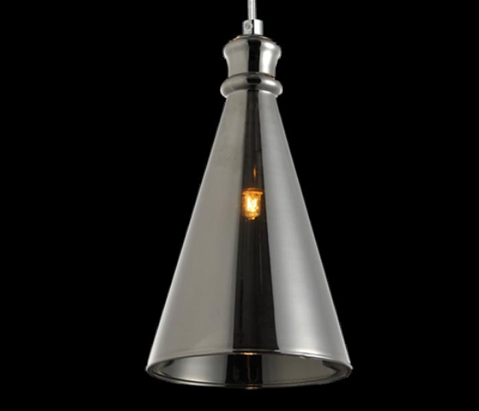 Luminária Pendente Vidro Fumê  Soprano  Ref: Lt-292V-G - Luxtek
