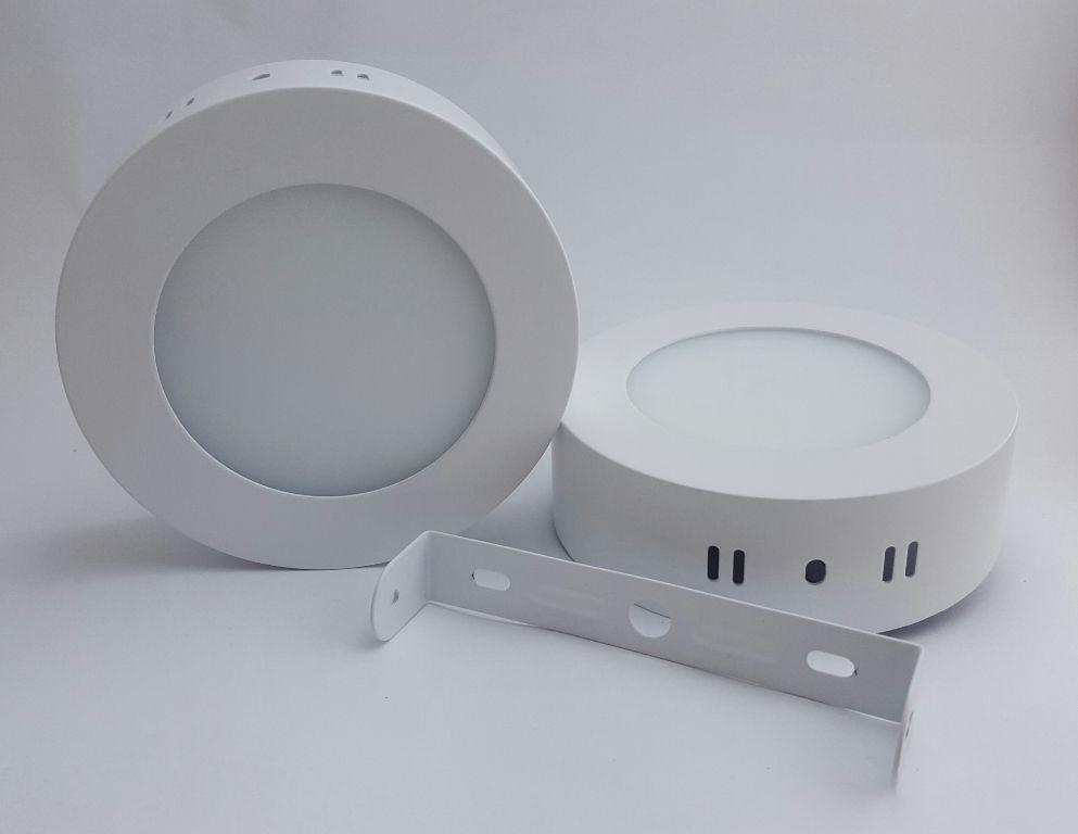 Luminária Plafon LED 12w Sobrepor Branco Frio Redonda - Luxtek
