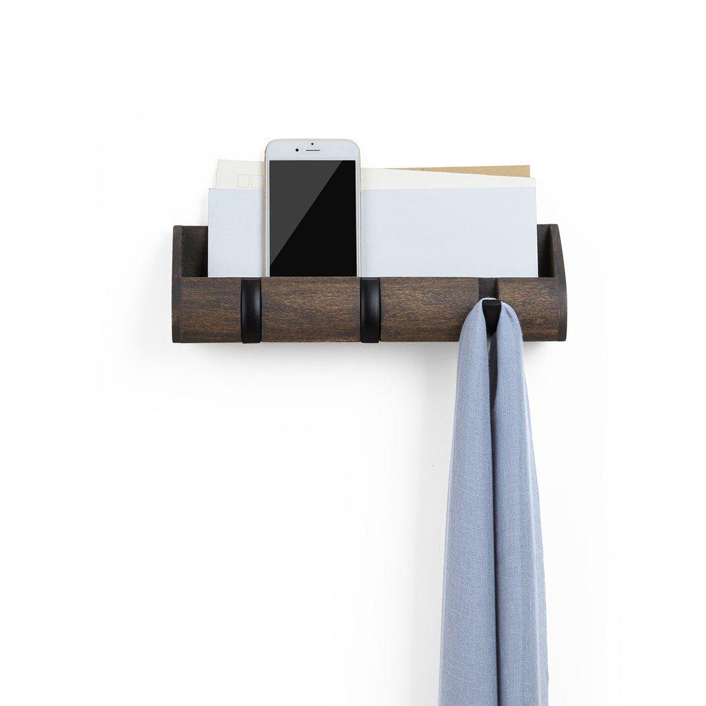 Porta-chaves e Organizador Cubby Mini - Expresso / Preto - Umbra