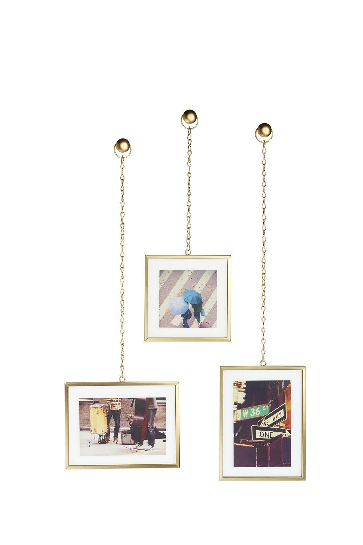 Porta-Retrato Fotochain Fosco Dourado - Umbra