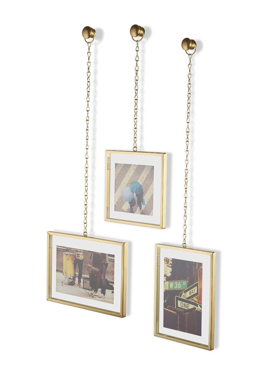 Porta-retratos Fotochain Fosco Dourado - Umbra