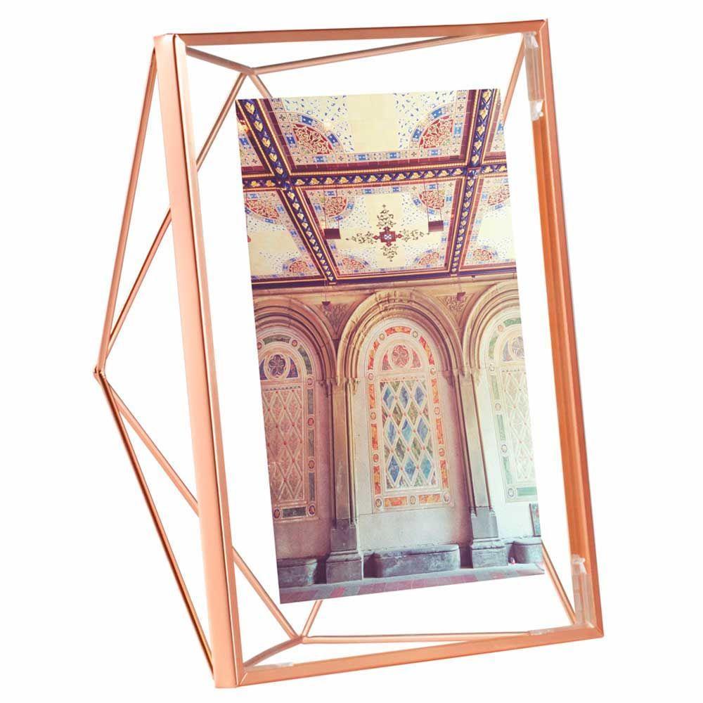 Porta-retrato Prisma cobre 10x15cm - Umbra