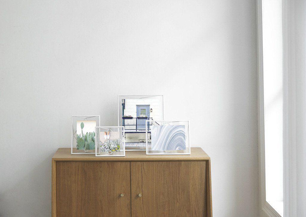 Porta Retrato Prisma Prata 10x15cm - Umbra