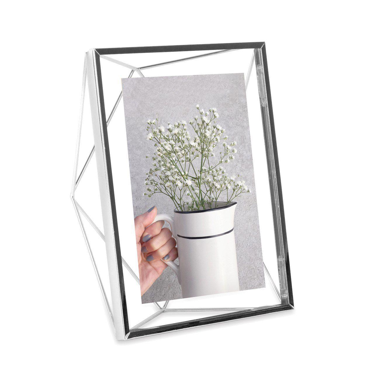 Porta-retrato Prisma Prata 10x15cm - Umbra