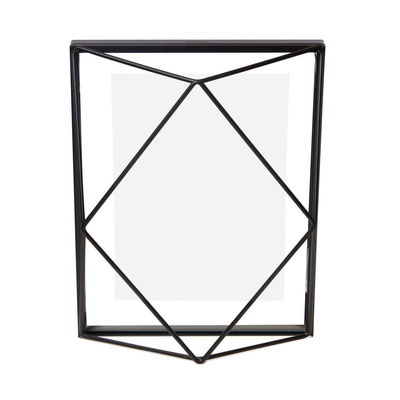 Porta-retratos Prisma Preto 10x15cm - Umbra