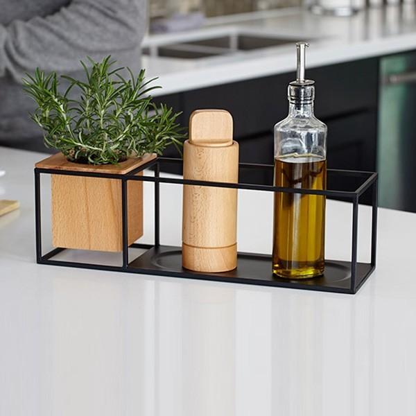 Prateleira Cubist com vaso média- Umbra