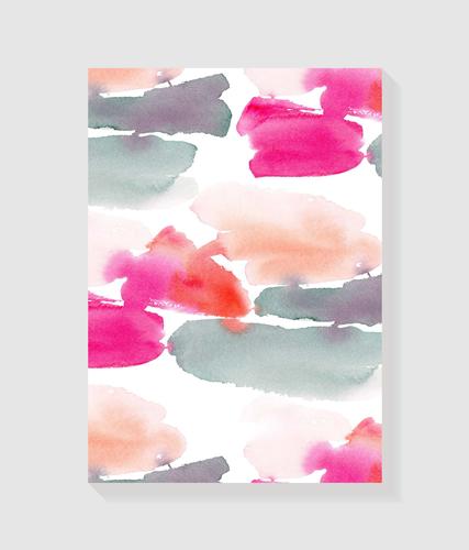 Quadro Decorativo em Canvas Abs Rosa Cinza