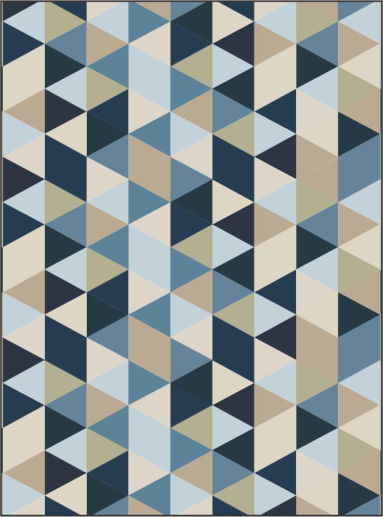 Quadro Decorativo em Canvas Geométrico Blue