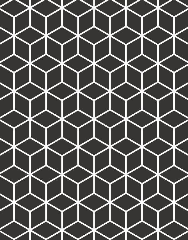 Quadro Decorativo em Canvas Geométrico Preto & Branco