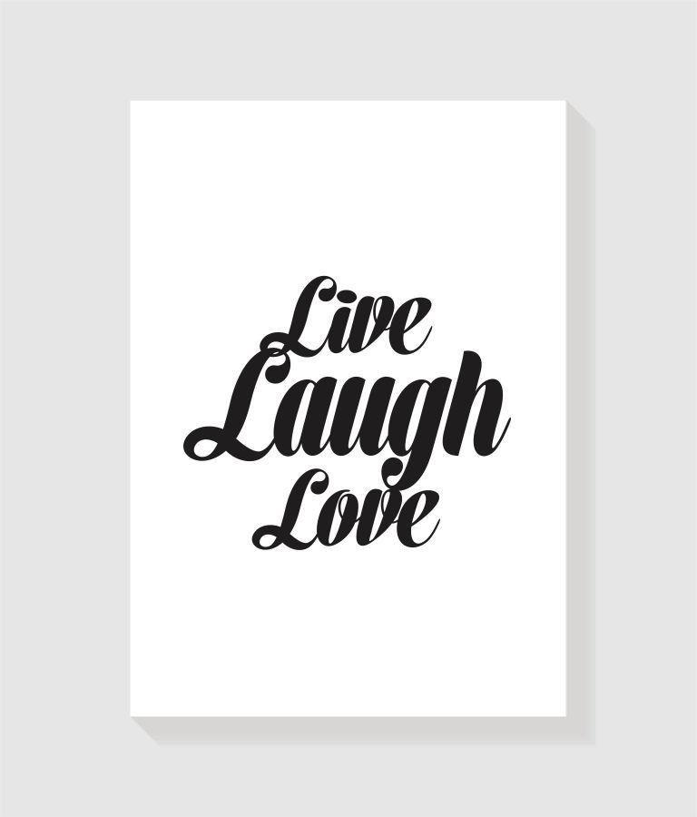 Quadro Live Laugh Love