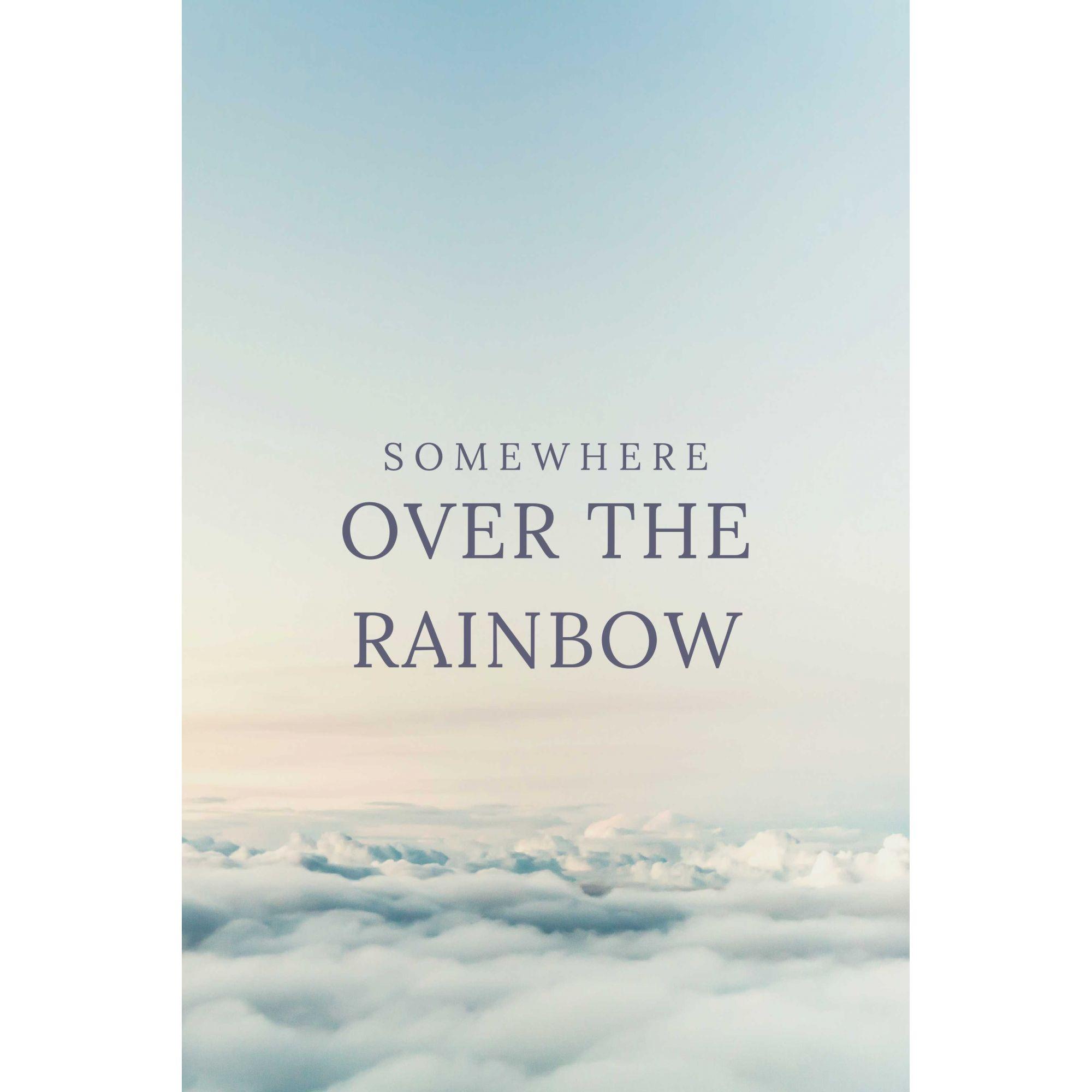 Quadro Decorativo em Canvas Over the Rainbow