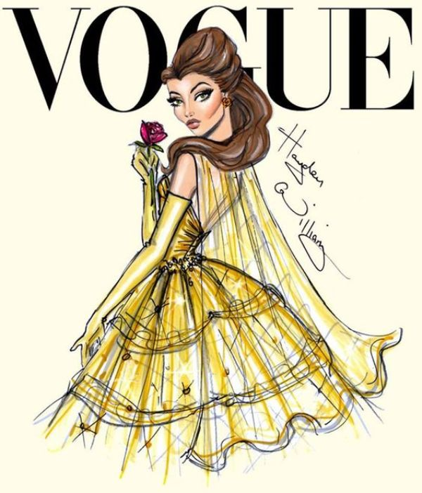 Quadro Princesas Vogue 60 x 90 cm