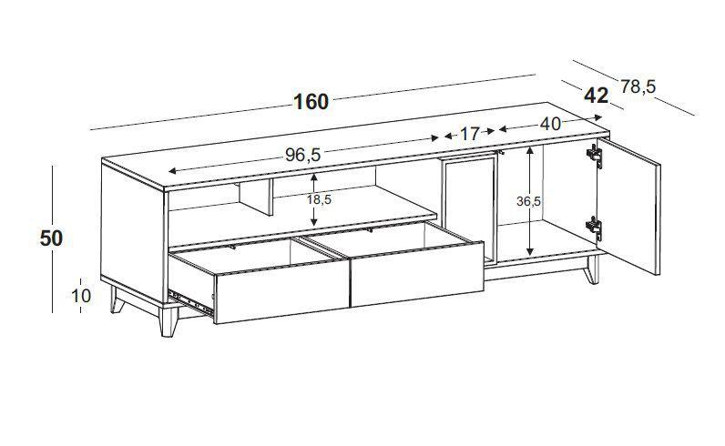 Rack Quadrato 2 Gav 1 Porta - Confirmar Estoque