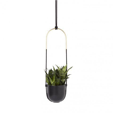 Vaso com Suporte Botânico Bolo Preto - Umbra