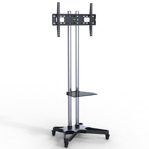 """Suporte Pedestal com rodas e travas para TV LCD / LED, Para tela de 37""""-75"""" FT-6418CR - FIXATEK"""