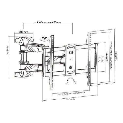 Suporte Triarticulável P/Tv LED 37-70'' FT-6448P FIXATEK
