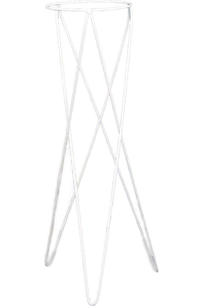Tripe Metálico Branco para Vaso Auto irrigável 04