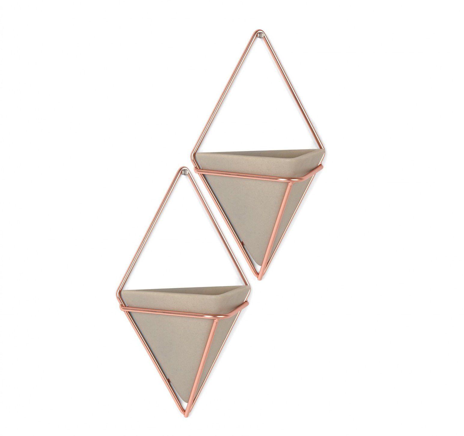 Vaso de Parede Trigg (2 un) Pequeno Concreto / Cobre - Umbra