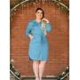 Vestido Chemise Azul Céu com Botões - Amanda Bella