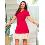 Vestido em Malha Soltinho  Bicolor - Boutique K