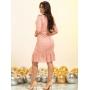 Vestido em Renda Laser Rosê - Amanda Bella