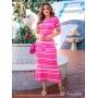 Vestido Lidya Premium  Rosa - Boutique K