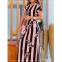 Vestido Longo em Viscose Rosê - Boutique K