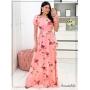 Vestido Longo Luxo Rosa  - Amanda Bella