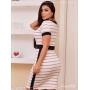 Vestido Sport Chique Listra Caramelo - Amanda Bella