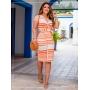 Vestido Transpassado Verão 2021 Laranja - Boutique K