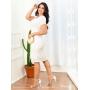 Vestido Tubinho Branco em Tule - Amanda Bella