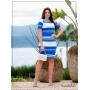 Vestido Tubinho Listrado Azul  - Boutique K