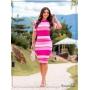 Vestido Tubinho Listrado Pink - Boutique K