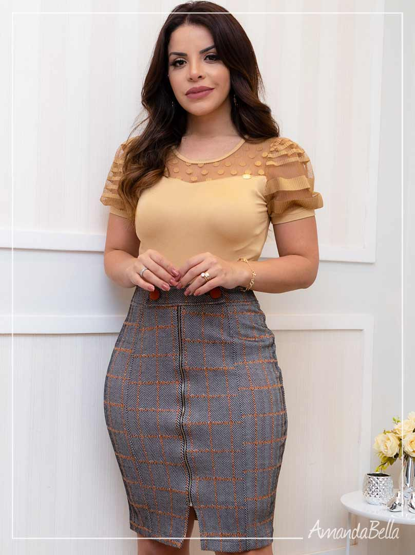 Blusa Feminina com Tule - Boutique K