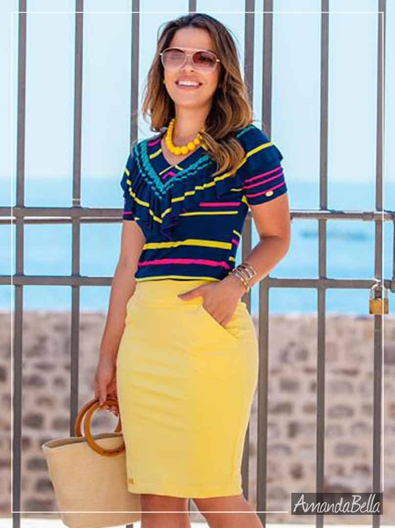 Blusa Feminina Trend Color- Boutique K